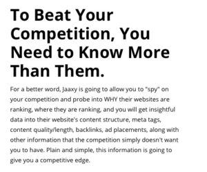 To Beat The Competition You Need To Know More